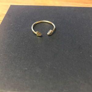 Alex and Ani Gold Arrow Ring